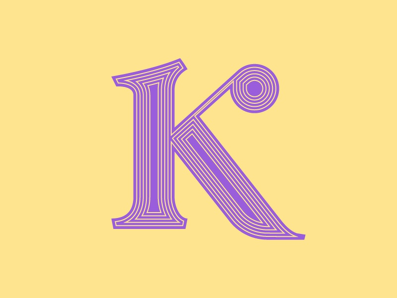 'K' letter typography typehue