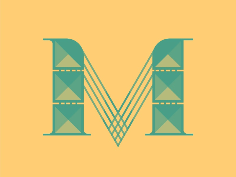 'M' letter typography typehue