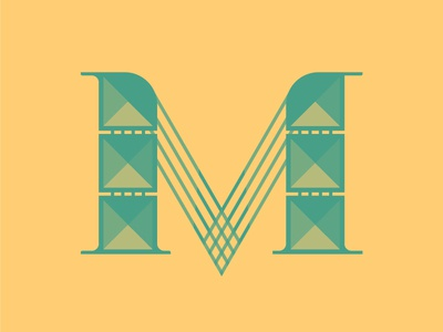 M by Jeffrey Herrera via dribbble