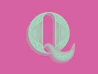 'Q' letter typography typehue