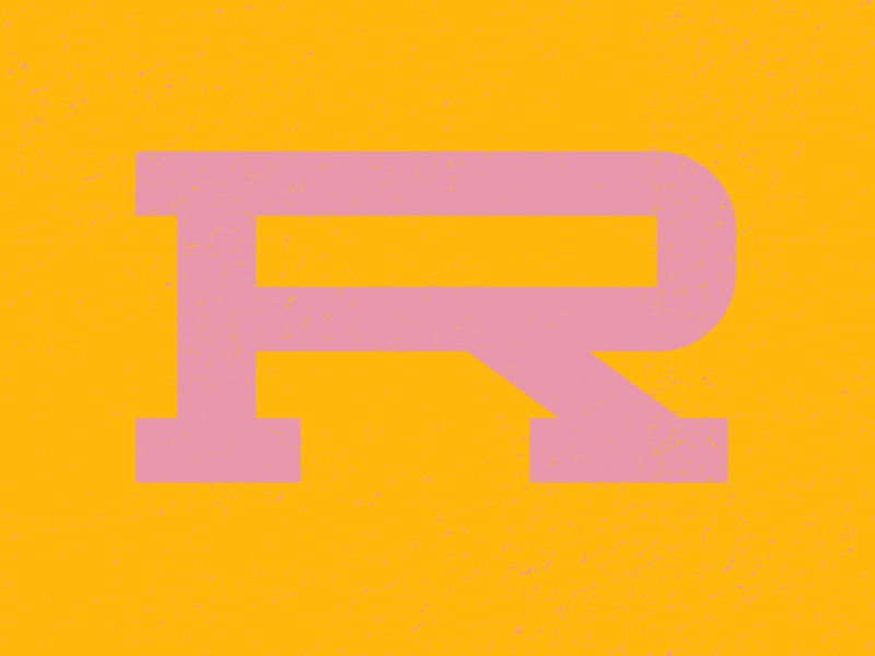 R letter typography typehue