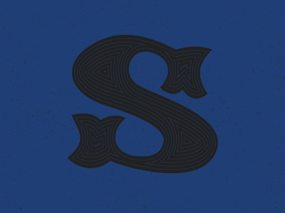 'S' letter typography typehue