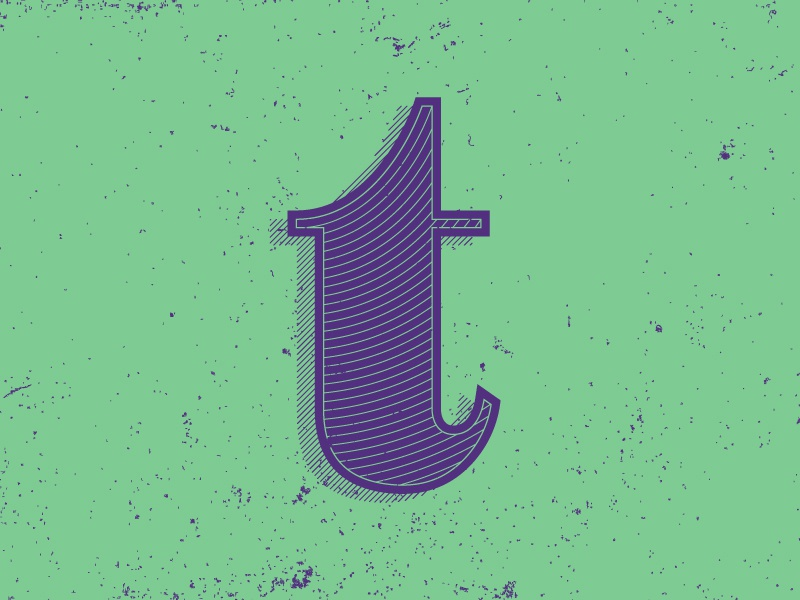T letter typography typehue