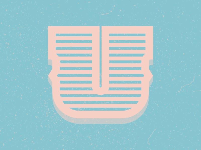 U letter typography typehue