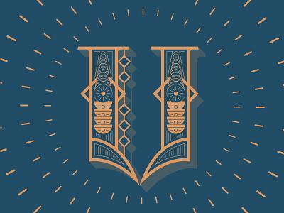 V letter typography typehue