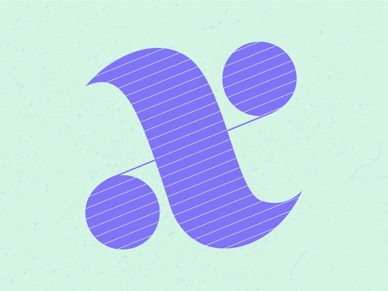 X letter typography typehue