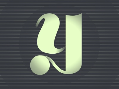 'Y' typography typhue letter