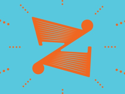 'Z' typography typehue letter