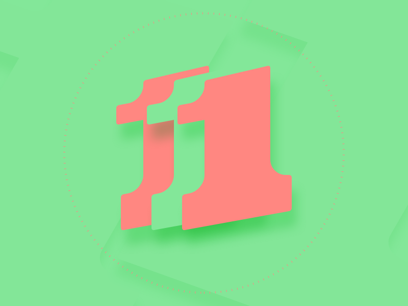 '1' typography typehue number letter