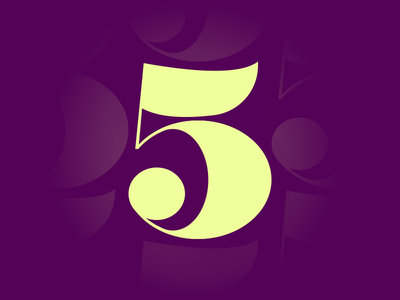 5 typography typehue number letter