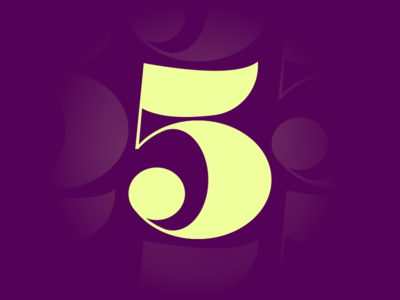 5 by Jeffrey Herrera via dribbble