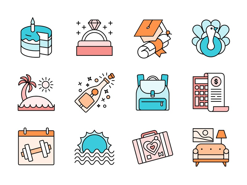 The Moments that Matter braze branding design illustration icon