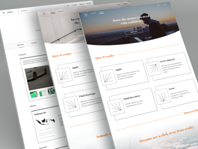 Decentralized Incubator Concept interface design web design