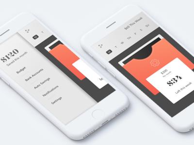 Daily-UI #004 - Simple Spending Tracker fintech app budget daily-ui