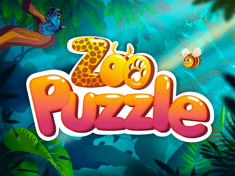 Zoo Puzzle - iOS Game Logo game art game logo logo logotype game design kids puzzle zoo vector ios game game