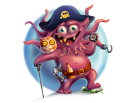 Space Pirate illustration pirate space pirate cg monster game concept art game art game character cartoon character art