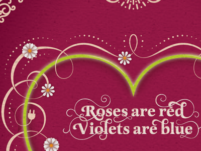 Roses are red valentines day greeting card typography vector lettering swashes