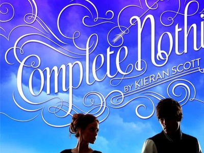 Complete Nothing vector lettering book cover swashes ornate script swirl