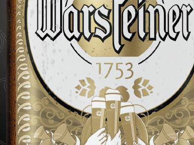 Warsteiner Print Ad Illustration warsteiner advertising celebration beer print ad illustration vector