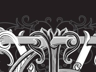 VIT Monogram vintage vector lettering custom monogram
