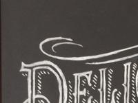 Birds Eye Deli Chips chalkboard for TVC