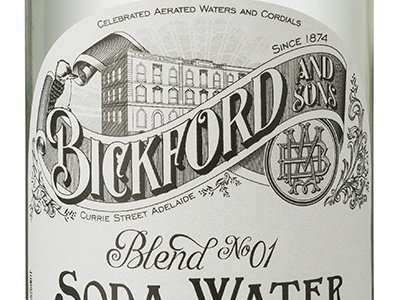 Bickford and Sons Label monogram mixer bottle vector packaging label vintage