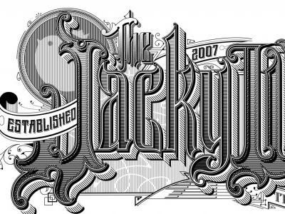 JWG Interim Field Guide Cover sanborn vintage vector typography