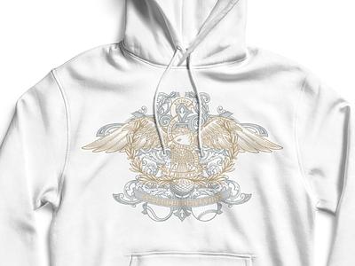 Etiqe Eagle vintage illustration vector eagle hoodie apparel design
