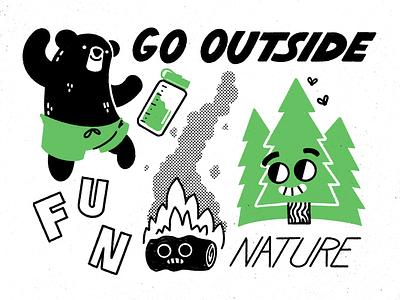 Camping design illustrator procreate illustration