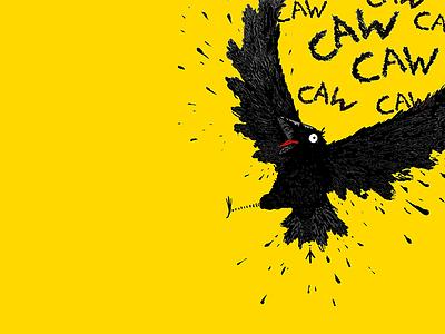 Noisy Crow crow photoshop illustration