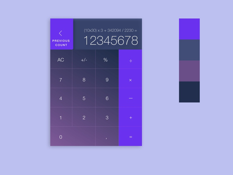 Daily UI / Calculator purple geometric daily100 minimalist simple calculator dailyui 004