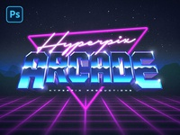 3D 80s Text and Logo Effect Vol.2 PSD Template synthwave 1980s vaporwave arcade text styles download mockup nostalgia 80s art outrun newwave retrowave synth retro psd logo title text style 80s text effect