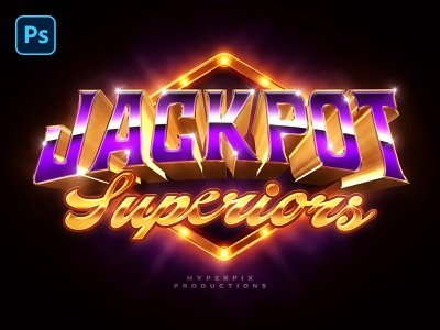 Jackpot Text and Logo Effect PSD Template vegas money gold coins jackpot casino games game night las vegas marquee game design casino 80s title logo download typography text styles photoshop text effect psd