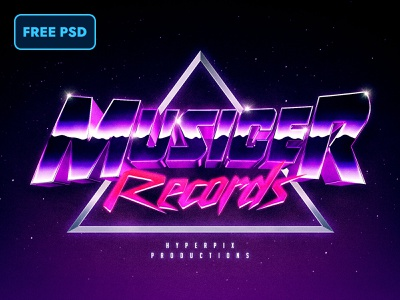 [FREE PSD] Synthwave 80s Text and Logo Effect design download future retrowave retro vaporwave synthwave synth mockup logo title 1980s text style text effect 80s freebie psd freebies freebie free psd