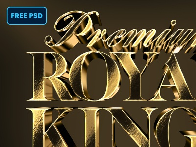 [FREE PSD] 3D Gold Text and Logo Effect Vol.2 gold foil 3d gold 3d logo text style mockups deluxe luxury freebie free gold design title mock-up text styles photoshop text effect mockup logo download psd
