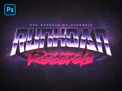 Retro Futuristic 3D Text and Logo Effect Vol.2 futuristic design 80s style vaporwave retrowave vintage retro synthwave 1980s 80s typography template mock-up text styles photoshop text effect mockup logo download psd