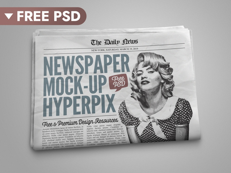 [FREE DOWNLOAD] Newspaper Mockup paper psd download news showcase press presentation identity ads template retro vintage psd psd file photoshop mockup mock-up freebie free download newspaper