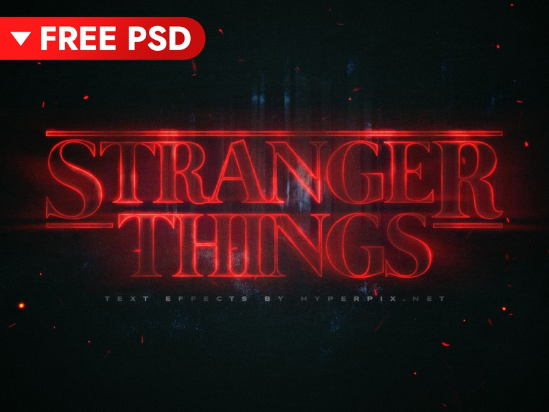 FREE DOWNLOAD] Stranger Things Text Effect by Hyperpix