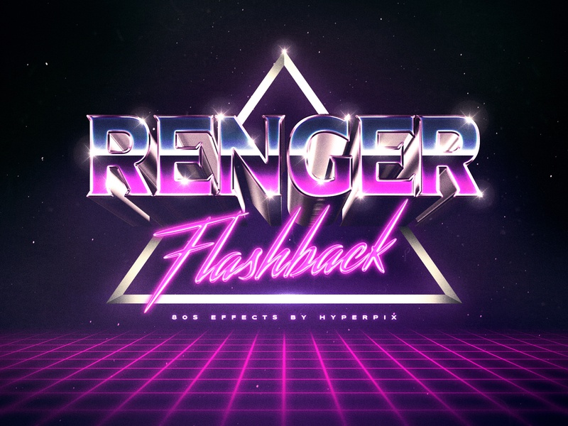 80s Retro Text Effects by Hyperpix Studio on Dribbble