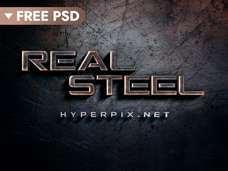 FREE DOWNLOAD] 3D Metal Text Effect by Hyperpix Studio on Dribbble
