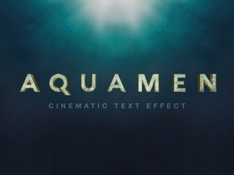 Aquaman Text Effect by Hyperpix Studio on Dribbble