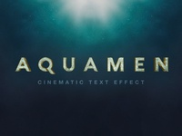 Aquaman Text Effect