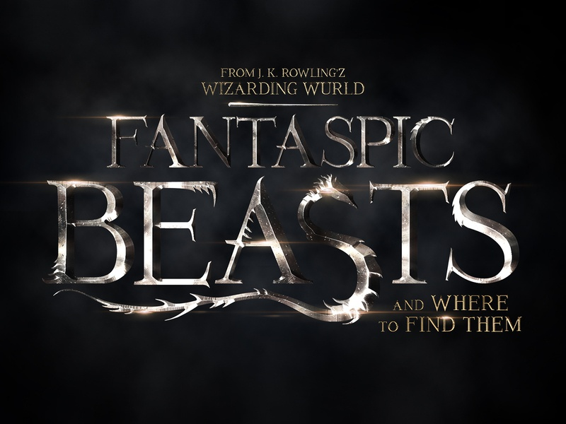 Fantastic Beasts Texrt Effect lettering intro 3d text superhero hollywood cinematic movie design title 3d typography text styles text effect template psd logo mock-up download photoshop mockup