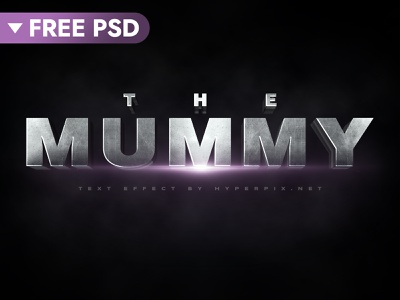[FREE DOWNLOAD] The Mummy Cinematic 3D Text Effect film freebie free hollywood cinematic 3d text movie design title 3d typography text styles text effect template logo psd mock-up download photoshop mockup