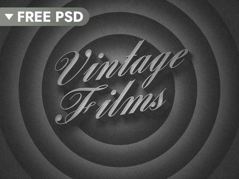 [FREE DOWNLOAD] Old Movie 3D Title freebies 50s vintage film retro free freebie cinematic movie 3d text title 3d typography mock-up logo psd download text styles text effect mockup