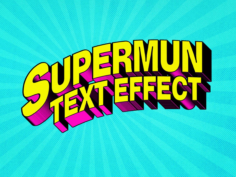 [FREE DOWNLOAD] Superhero Comic Text Effect design 1980 80s title 3d text free freebie psd logo template typography 3d comic book comics text styles mock-up photoshop download text effect mockup