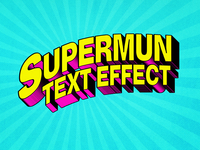 [FREE DOWNLOAD] Superhero Comic Text Effect design 1980 80s title 3d text free freebie psd logo template typography 3d comic book comics text styles mock-up photoshop download text effect mockup