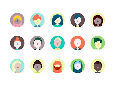 Kiddom Avatars kiddom rainbow palette illustration cartoon colorful diverse student users avatar