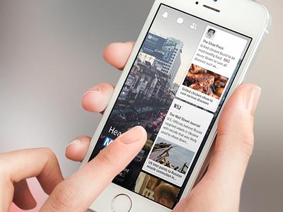 CardStream UI ui mobile facebook paper