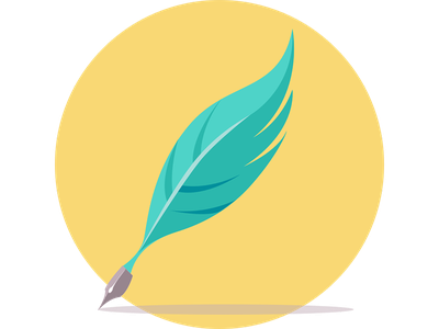 Quill vector illustration pictogram pictograph quill